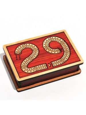 Wood Cribbage Board 29 Design 6