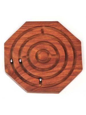 Wood Ball-in-Maze Game