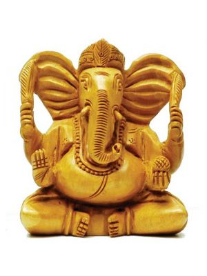 Hand Carved Wood Ganesha 4