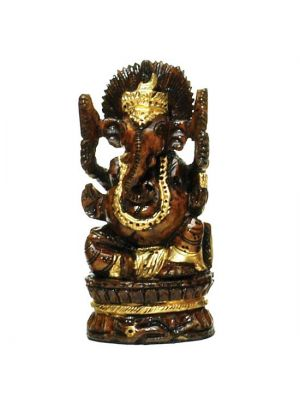 Hand Painted & Carved Wood Ganesha 4