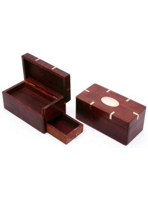 Wooden Puzzle Box with Hidden Drawer 6