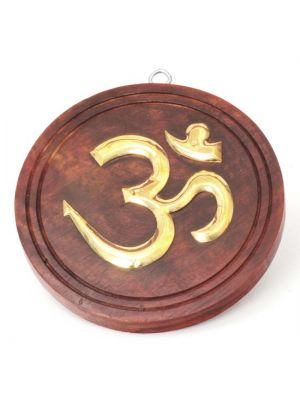 Wood Om Plaque 4