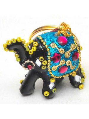 Beaded Elephant Key Chains Set/4